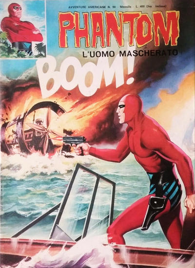 Cover for L'Uomo Mascherato Phantom [Avventure americane] (Edizioni Fratelli Spada, 1972 series) #90