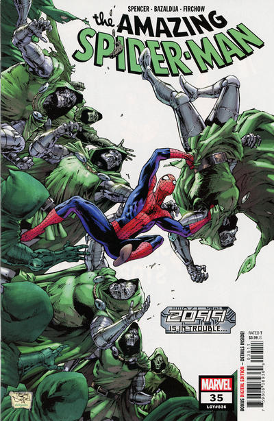 Cover for Amazing Spider-Man (Marvel, 2018 series) #35 (836) [Variant Edition - Arthur Adams Connecting Cover]