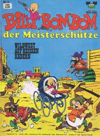 Cover Thumbnail for Bastei-Comic (Bastei Verlag, 1972 series) #11 - Billi Bombom der Meisterschütze - Wildwest auf heissen Rädern
