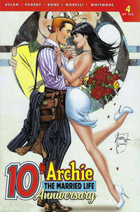 Cover for Archie: The Married Life - 10th Anniversary (Archie, 2019 series) #4 [Cover B - Rick Burchett]