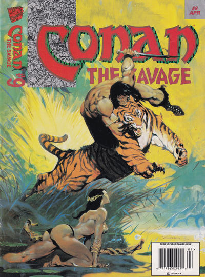 Cover for Conan the Savage (Marvel, 1995 series) #9 [Newsstand]