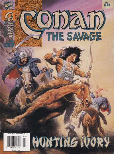 Cover for Conan the Savage (Marvel, 1995 series) #8