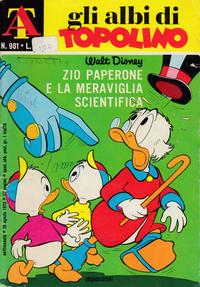 Cover Thumbnail for Albi di Topolino (Arnoldo Mondadori Editore, 1967 series) #981