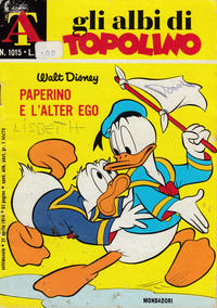 Cover Thumbnail for Albi di Topolino (Arnoldo Mondadori Editore, 1967 series) #1015