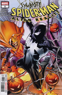 Cover for Symbiote Spider-Man: Alien Reality (Marvel, 2020 series) #1 [Symbiote Swap Variant Edition - Young Guns 2019 - Pepe Larraz Cover]