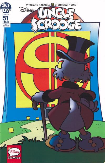 Cover for Uncle Scrooge (IDW, 2015 series) #51 / 455 [RI Cover - Giorgio Cavazzano]