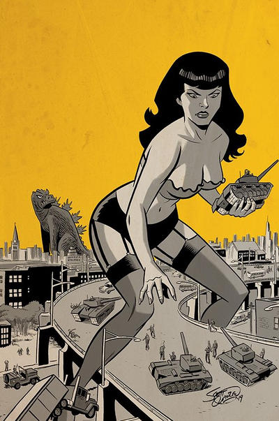 Cover for Bettie Page Unbound (Dynamite Entertainment, 2019 series) #8 [Cover B Scott Chantler]