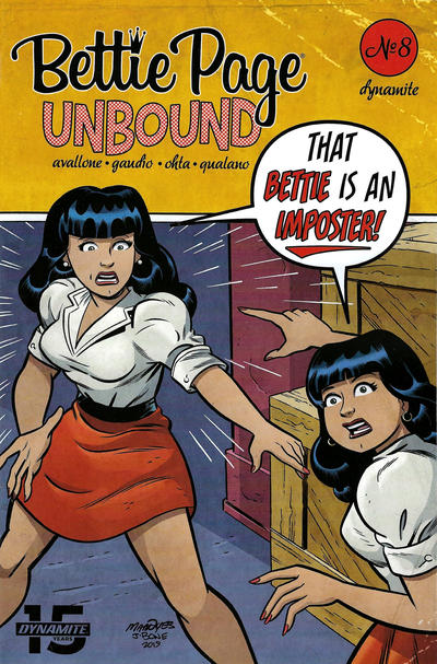 Cover for Bettie Page Unbound (Dynamite Entertainment, 2019 series) #8 [Cover D Pasquale Qualano]
