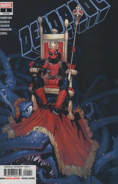 Cover for Deadpool (Marvel, 2020 series) #1 (316) [Diamond Gold Copper Comics / Scorpion Comics Exclusive - Rob Liefeld Virgin Art]