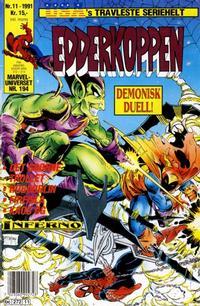 Cover Thumbnail for Edderkoppen (Semic, 1984 series) #11/1991