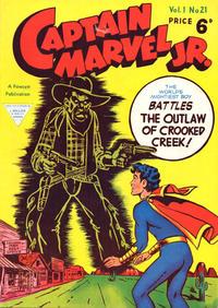Cover Thumbnail for Captain Marvel Jr. (L. Miller & Son, 1953 series) #21