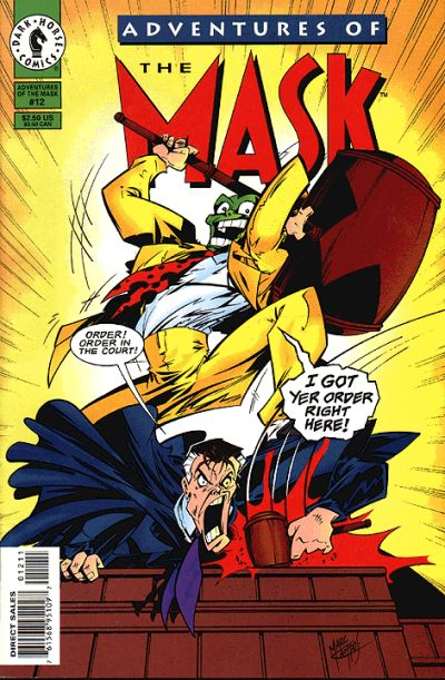 Cover for Adventures of the Mask (Dark Horse, 1996 series) #12