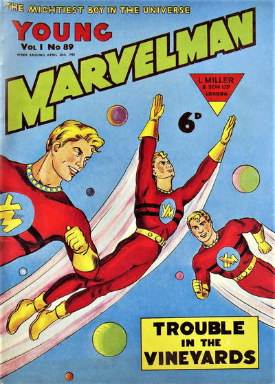 Cover for Young Marvelman (L. Miller & Son, 1954 series) #89