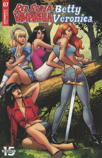 Cover for Red Sonja and Vampirella Meet Betty and Veronica (Dynamite Entertainment, 2019 series) #7 [Cover D Dan Parent]