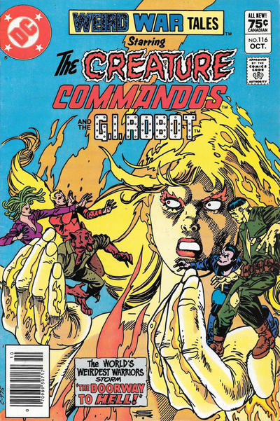 Cover for Weird War Tales (DC, 1971 series) #116 [Canadian]