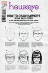 Cover for Hawkeye (Marvel, 2017 series) #11 [Chip Zdarsky 'How to Draw']