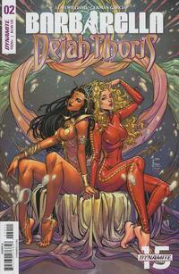 Cover for Barbarella/Dejah Thoris (Dynamite Entertainment, 2019 series) #2 [Cover A Laura Braga]