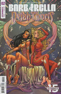 Cover Thumbnail for Barbarella/Dejah Thoris (Dynamite Entertainment, 2019 series) #2 [Cover A Laura Braga]
