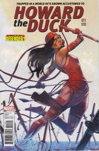 Cover Thumbnail for Howard the Duck (Marvel, 2016 series) #11 [Variant Edition - The Defenders 'Elektra' - Jamal Campbell Cover]