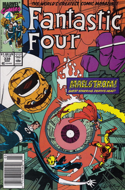 Cover for Fantastic Four (Marvel, 1961 series) #338 [Direct]