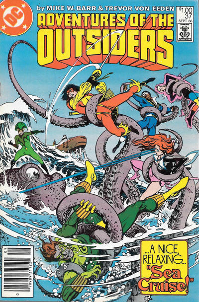 Cover for Adventures of the Outsiders (DC, 1986 series) #37 [Canadian]
