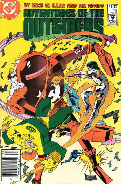 Cover for Adventures of the Outsiders (DC, 1986 series) #42 [Direct]