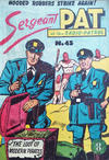Cover for Sergeant Pat of the Radio-Patrol (Atlas, 1950 series) #45
