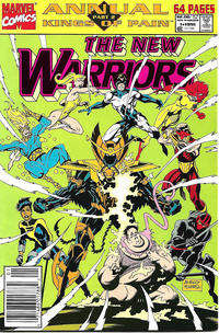 Cover Thumbnail for The New Warriors Annual (Marvel, 1991 series) #1 [Newsstand]