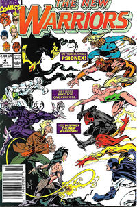 Cover Thumbnail for The New Warriors (Marvel, 1990 series) #4 [Newsstand]