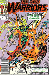 Cover Thumbnail for The New Warriors (Marvel, 1990 series) #5 [Newsstand]
