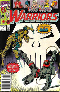 Cover Thumbnail for The New Warriors (Marvel, 1990 series) #7 [Newsstand]