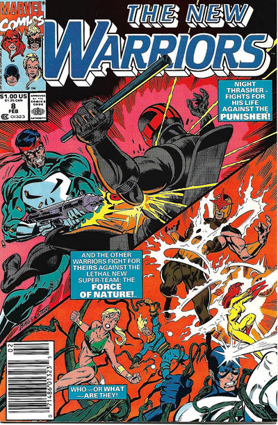 Cover for The New Warriors (Marvel, 1990 series) #8