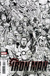 Cover for Iron Man 2020 (Marvel, 2020 series) #1 [Nick Roche 'Party' Black and White]