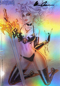 Cover Thumbnail for Lady Death: Scorched Earth (Coffin Comics, 2019 series) #1 [Holo-Foil Edition]