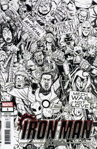 Cover Thumbnail for Iron Man 2020 (Marvel, 2020 series) #1 [Nick Roche 'Party' Black and White]