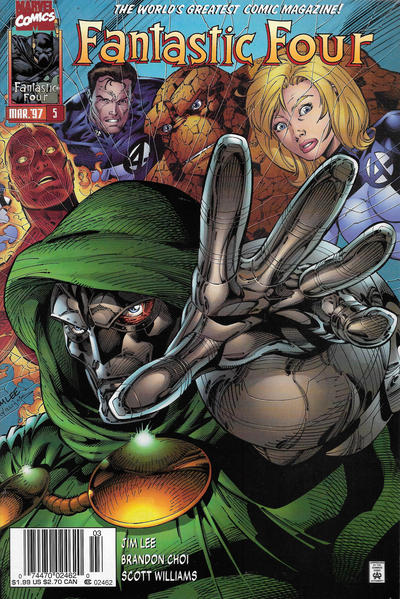Cover for Fantastic Four (Marvel, 1996 series) #5 [Direct Edition]