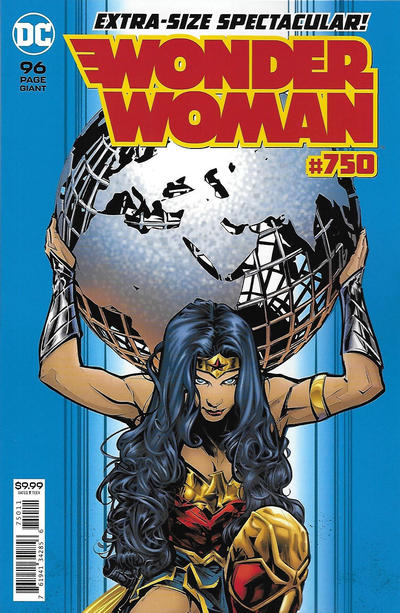 Cover for Wonder Woman (DC, 2016 series) #750 [1980s Variant Cover by George Pérez and Laura Martin]