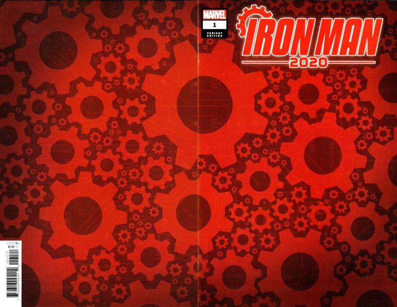 Cover for Iron Man 2020 (Marvel, 2020 series) #1 ['Gears' Design Wraparound]