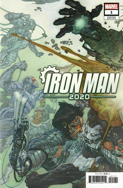Cover for Iron Man 2020 (Marvel, 2020 series) #1 [Pete Woods Premiere]