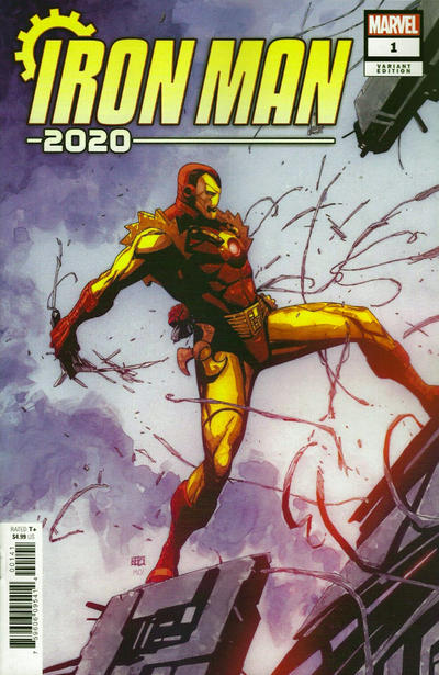 Cover for Iron Man 2020 (Marvel, 2020 series) #1 [Shattered Comics Exclusive - Matthew DiMasi]