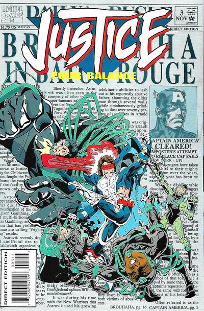 Cover for Justice: Four Balance (Marvel, 1994 series) #3