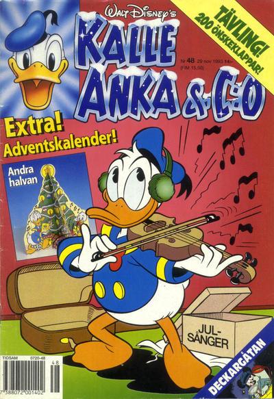 Cover for Kalle Anka & C:o (Serieförlaget [1980-talet], 1992 series) #48/1993