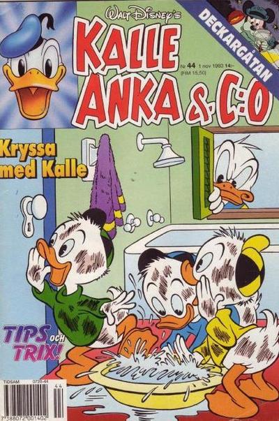 Cover for Kalle Anka & C:o (Serieförlaget [1980-talet], 1992 series) #44/1993