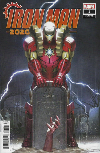 Cover for Iron Man 2020 (Marvel, 2020 series) #1 [Simone Bianchi Connecting]