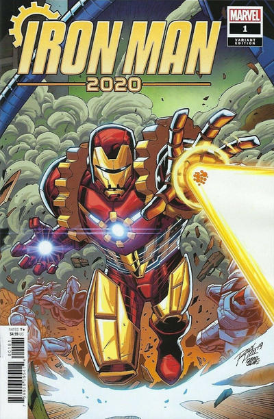 Cover for Iron Man 2020 (Marvel, 2020 series) #1 [Nick Roche 'Party']