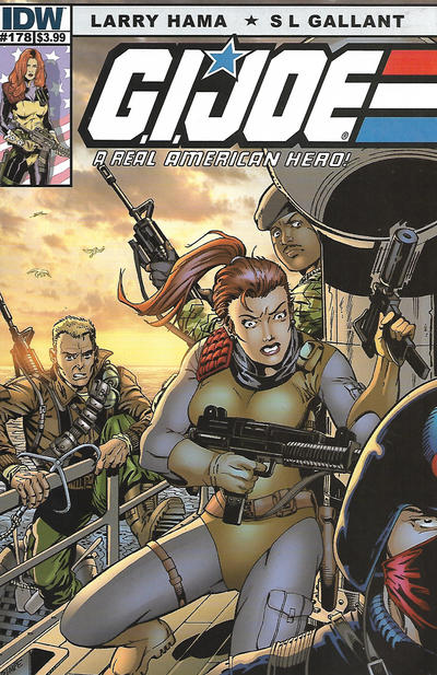 Cover for G.I. Joe: A Real American Hero (IDW, 2010 series) #178 [Cover RI Larry Hama]