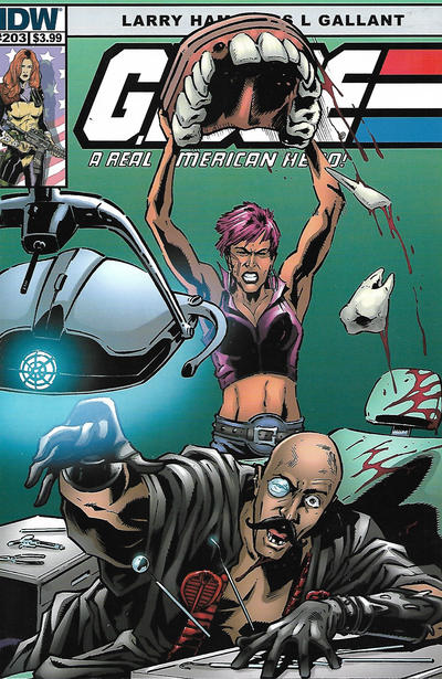 Cover for G.I. Joe: A Real American Hero (IDW, 2010 series) #203 [S.L. Gallant Cover]