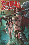 Cover Thumbnail for Vampirella/Red Sonja (2019 series) #5 [FOC Art by Sergio Davila]