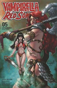 Cover Thumbnail for Vampirella/Red Sonja (Dynamite Entertainment, 2019 series) #5 [FOC Art by Sergio Davila]