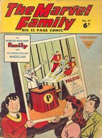 Cover Thumbnail for The Marvel Family (L. Miller & Son, 1950 series) #77
